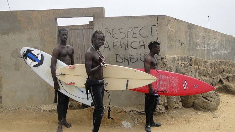 Surfing in Senegal